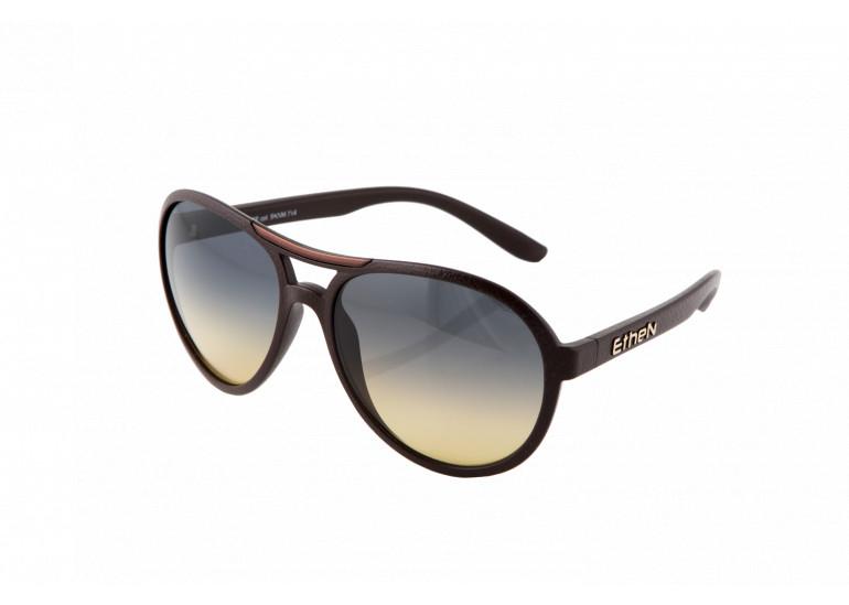 occhiali da sole effetto pelle marrone