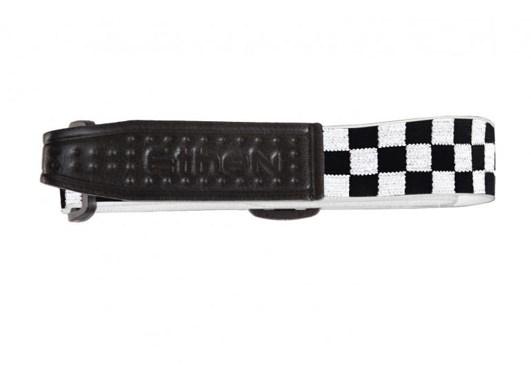 CR0115S -ELASTICO DI RICAMBIO CHESS BLACK/WHITE