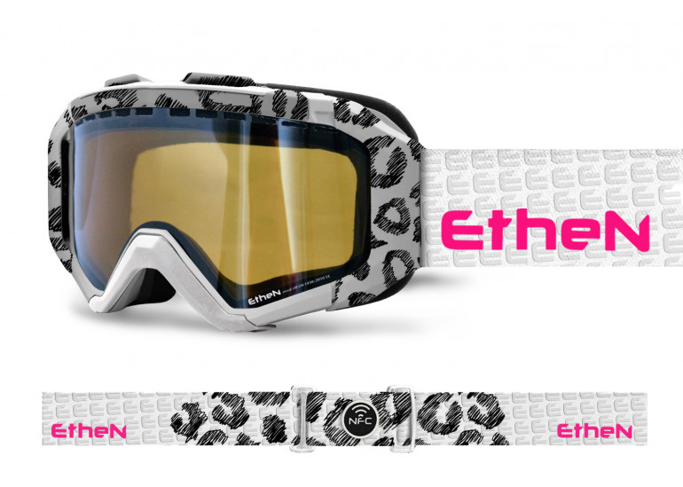 IRSK01_SNOW GOGGLES WHITE SPOTTED
