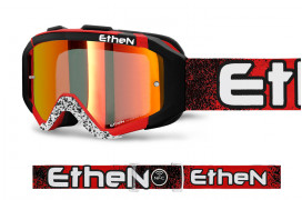 AR0720_ARES GOGGLE RED BLACK DOTS