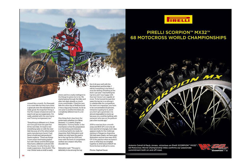 MXGP MAG issue 66 February 2019 The new BOS GP